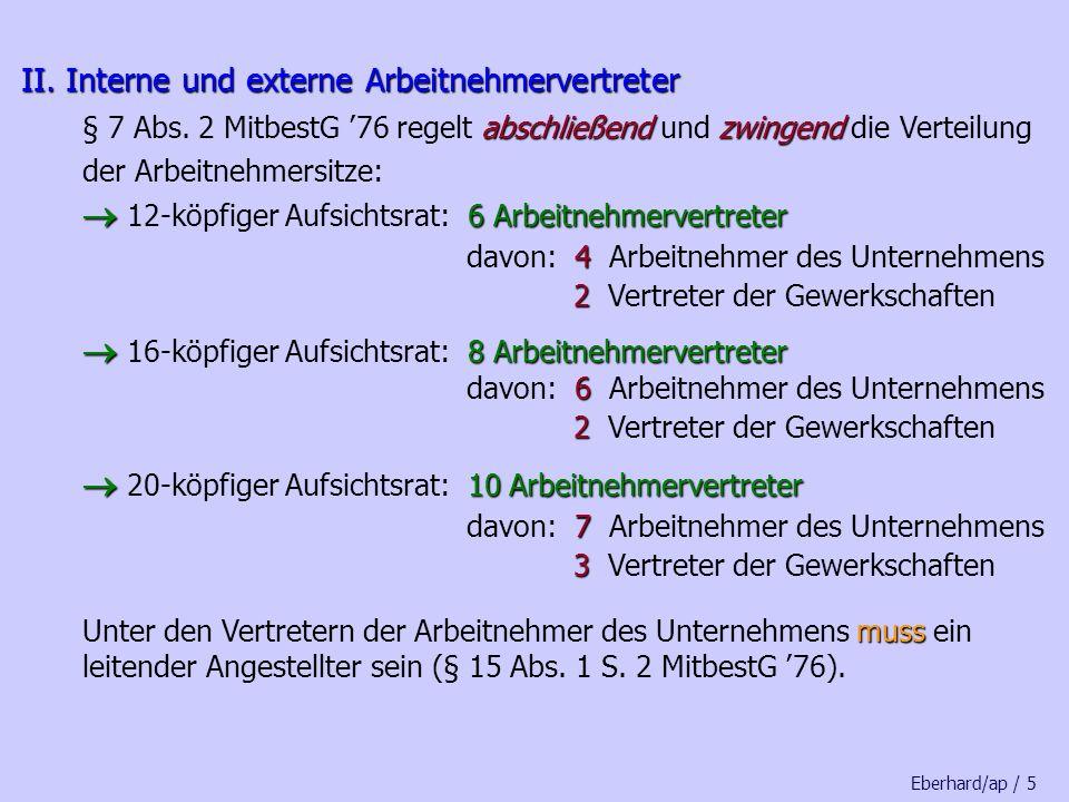 Eberhard/ap / 5 II.Interne und externe Arbeitnehmervertreter II.