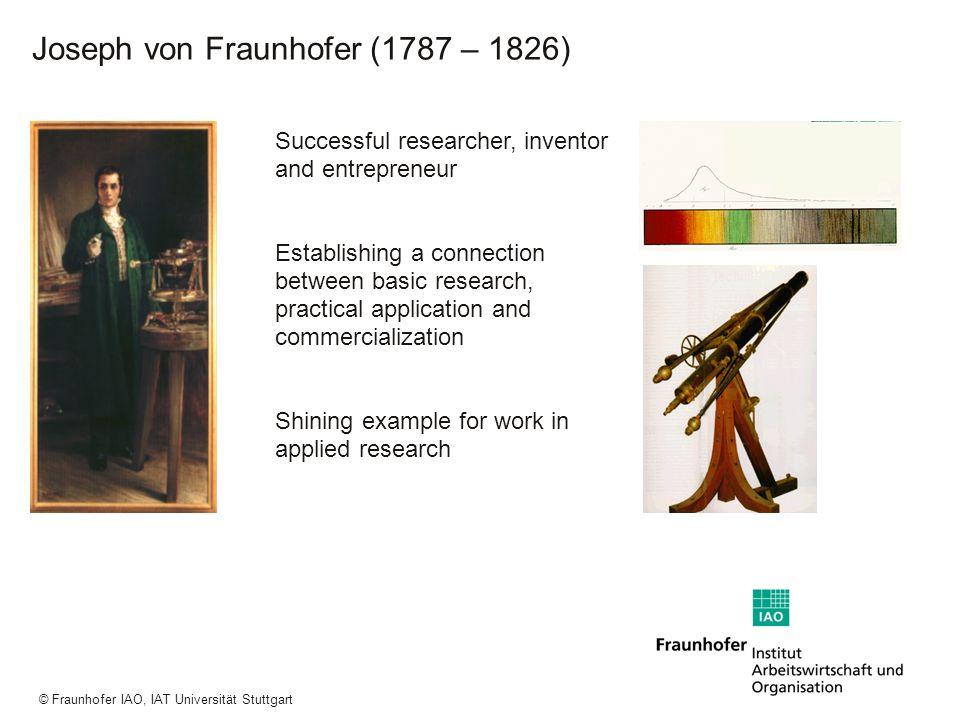 a a a © Fraunhofer IAO, IAT Universität Stuttgart Successful researcher, inventor and entrepreneur Establishing a connection between basic research, p