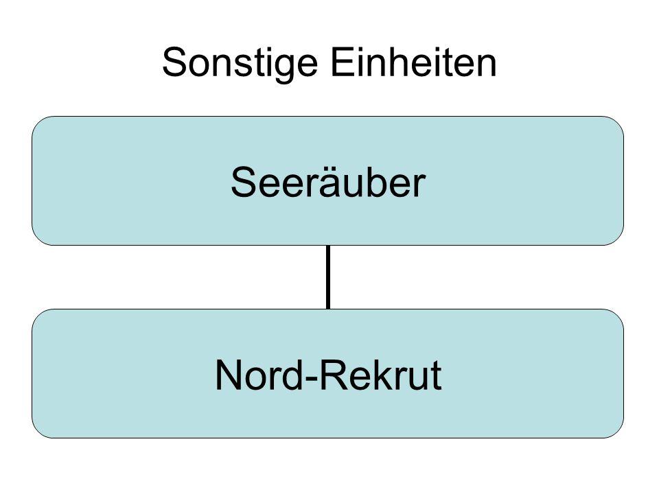 Sonstige Einheiten Seeräuber Nord- Rekrut