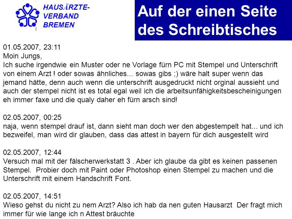 HAUS Ä RZTE- VERBAND BREMEN Nachweispflicht Landesarbeitsgericht Schleswig-Holstein am 13.