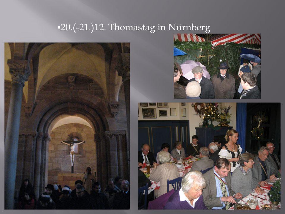 20.(-21.)12. Thomastag in Nürnberg