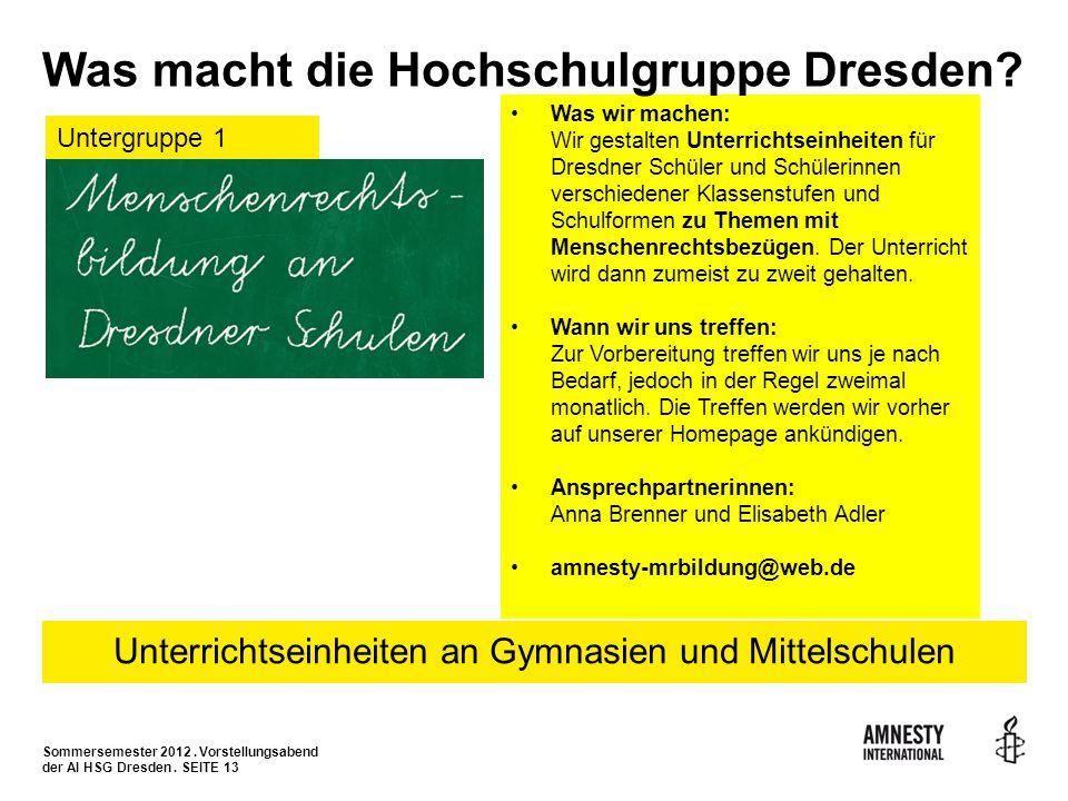 Was wir machen: Wir gestalten Unterrichtseinheiten für Dresdner Schüler und Schülerinnen verschiedener Klassenstufen und Schulformen zu Themen mit Men