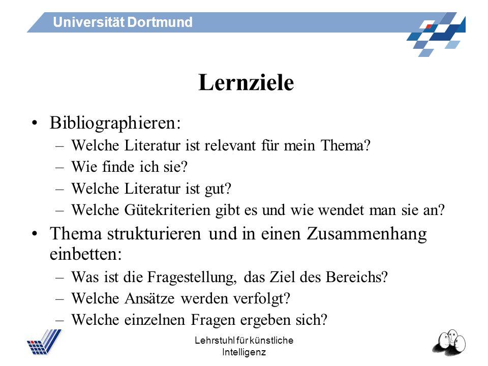 Universität Dortmund Lehrstuhl für künstliche Intelligenz Werkzeuge Erstellung und Bearbeitung des Schemas –Browser –Editoren (z.B. XMLmind) –Navigati