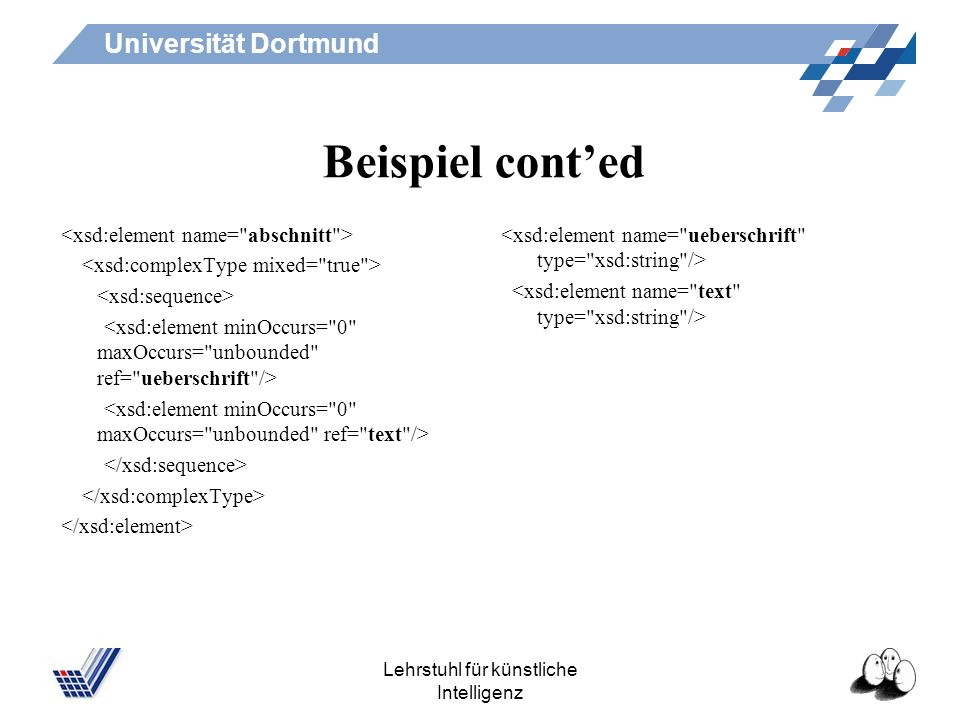 Universität Dortmund Lehrstuhl für künstliche Intelligenz Beispiel conted