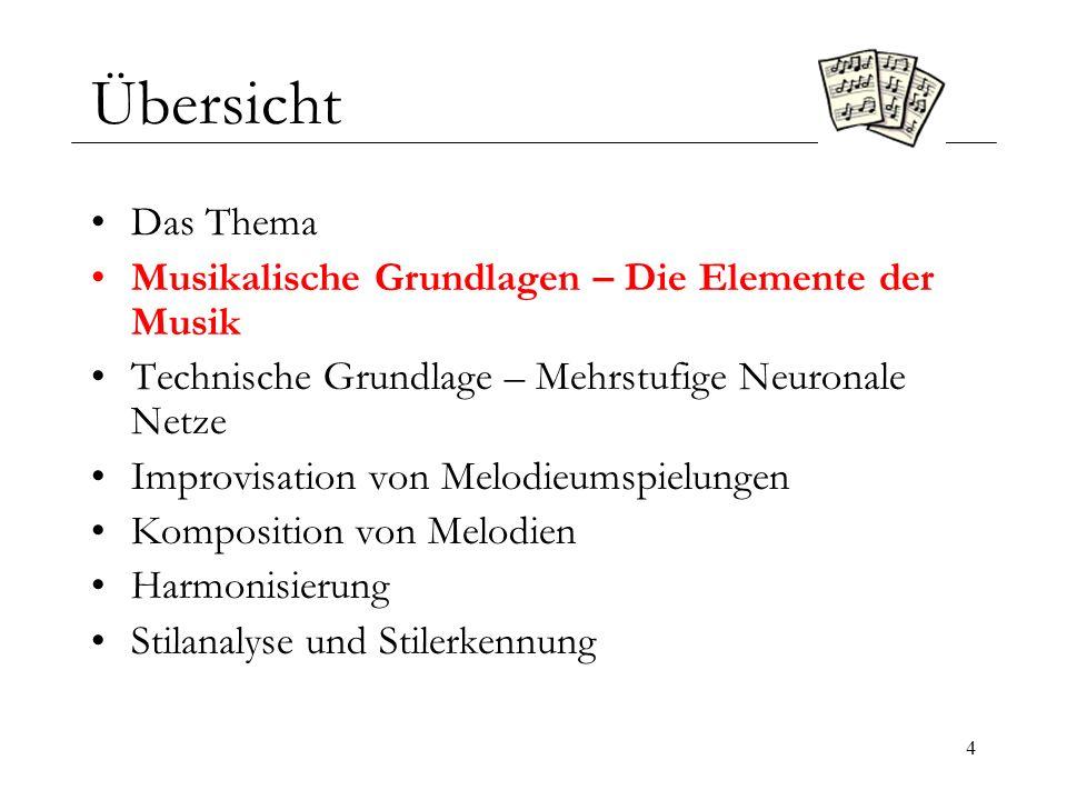 15 Musikalische Grundlagen – Der Akkord 3 Vierte Stufe (Subdominante): Hierzu werden die vierte, die sechste und die achte Note der Leiter gleichzeitig gespielt.