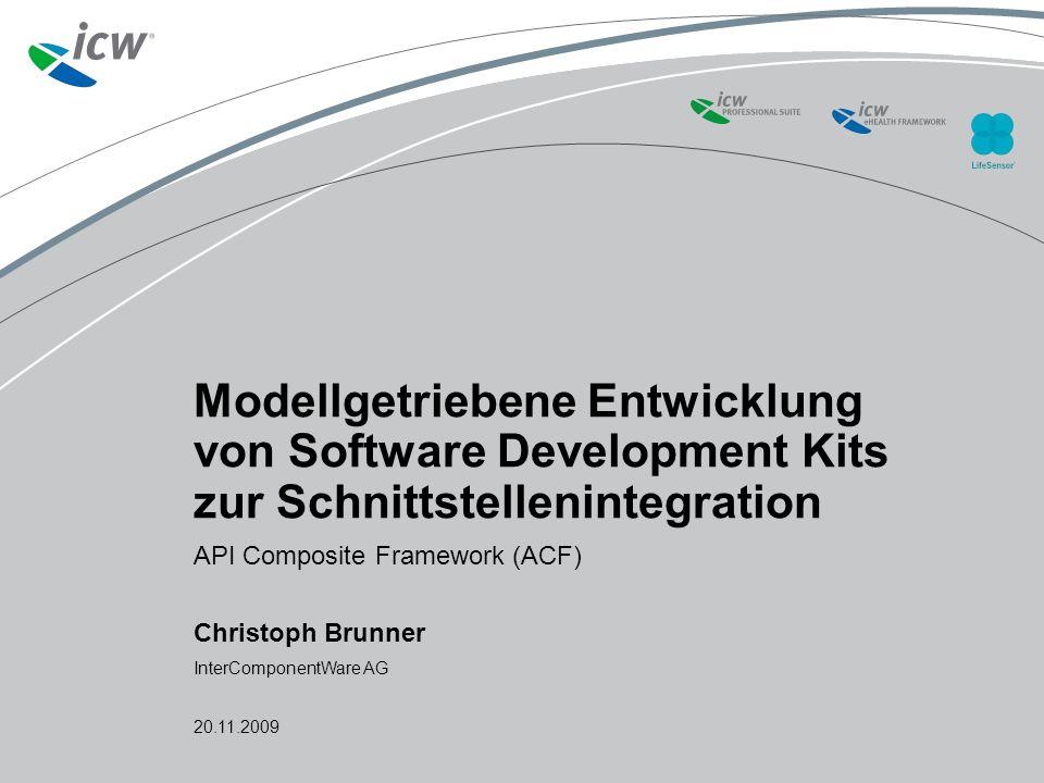 Agenda Modellgetriebene Entwicklung von Software Development Kits zur Schnittstellenintegration20.11.20092 1.