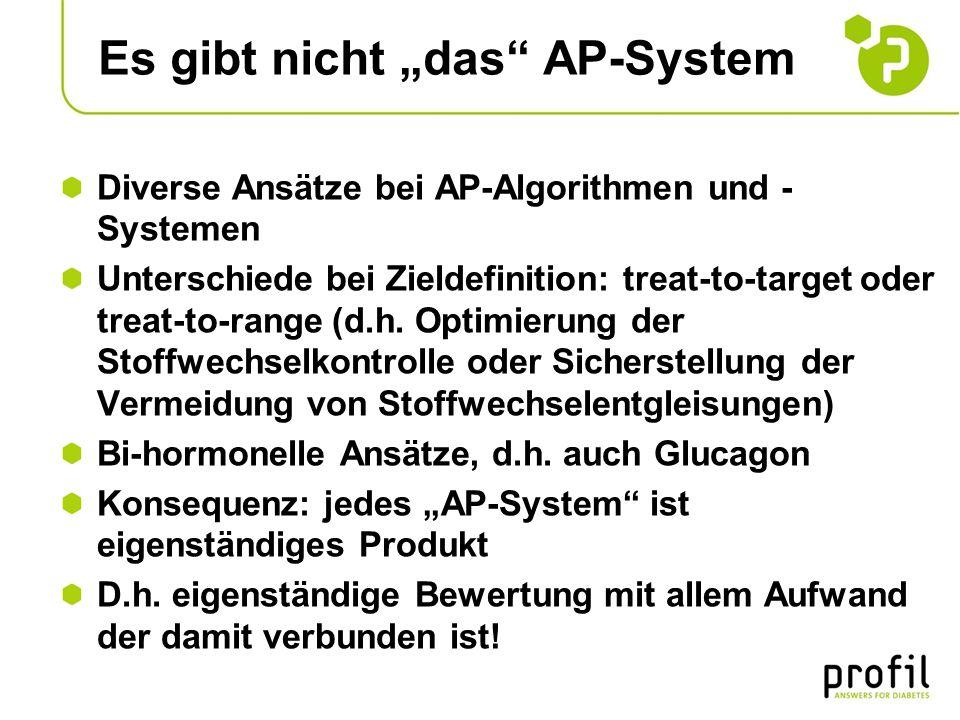 Es gibt nicht das AP-System Diverse Ansätze bei AP-Algorithmen und - Systemen Unterschiede bei Zieldefinition: treat-to-target oder treat-to-range (d.