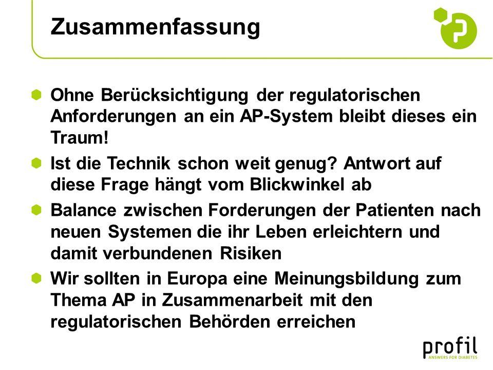 Zusammenfassung Ohne Berücksichtigung der regulatorischen Anforderungen an ein AP-System bleibt dieses ein Traum! Ist die Technik schon weit genug? An