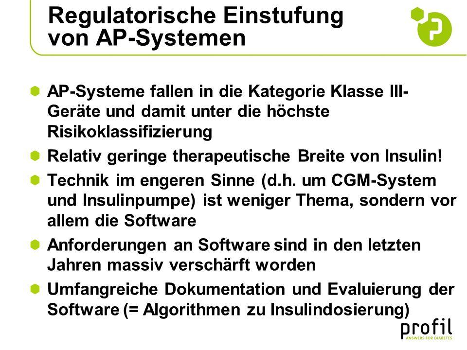 Regulatorische Einstufung von AP-Systemen AP-Systeme fallen in die Kategorie Klasse III- Geräte und damit unter die höchste Risikoklassifizierung Rela