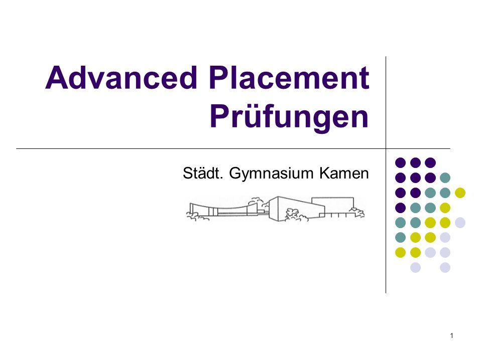 Advanced Placement Prüfungen Städt. Gymnasium Kamen 1