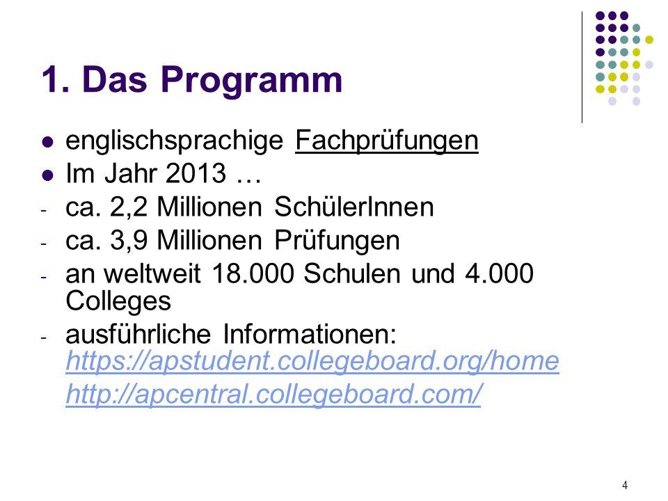 1.Das Programm englischsprachige Fachprüfungen Im Jahr 2013 … - ca.