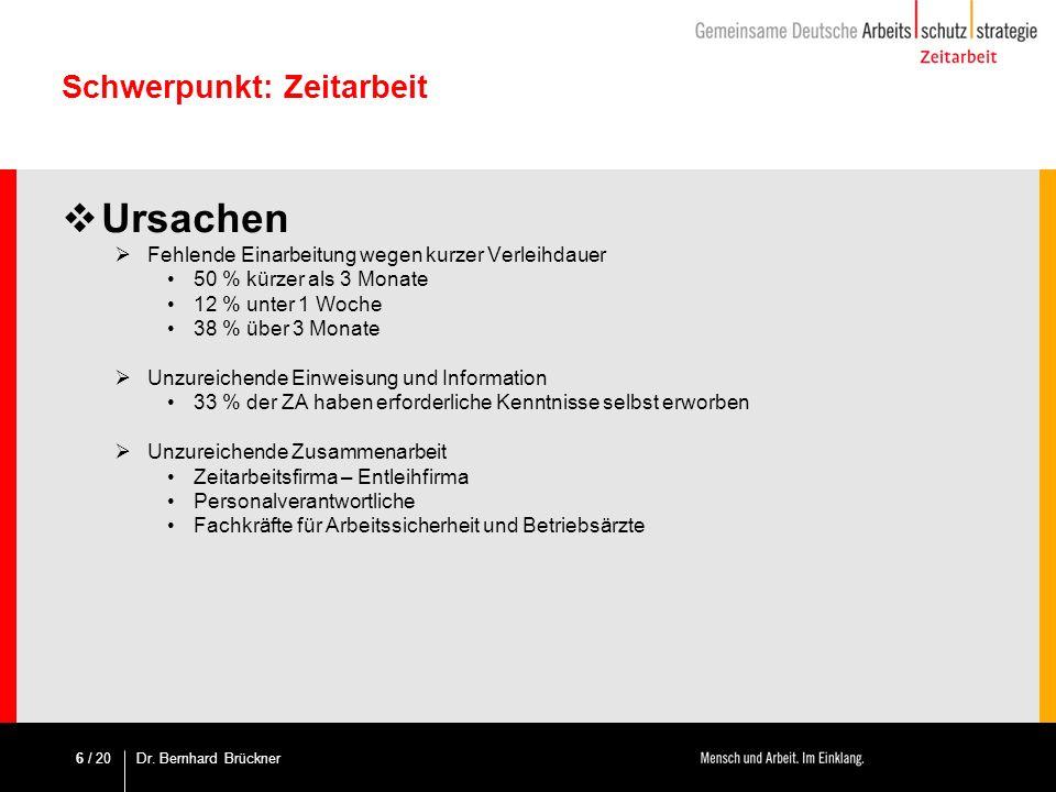 / 20 Methodik – Systematik des Leitfadens Fachdokumentation Zeitarbeit: 5.Überprüfung der Einsatzbedingungen Ist die arbeitsschutzrechtliche Integration des ZAN gegeben.