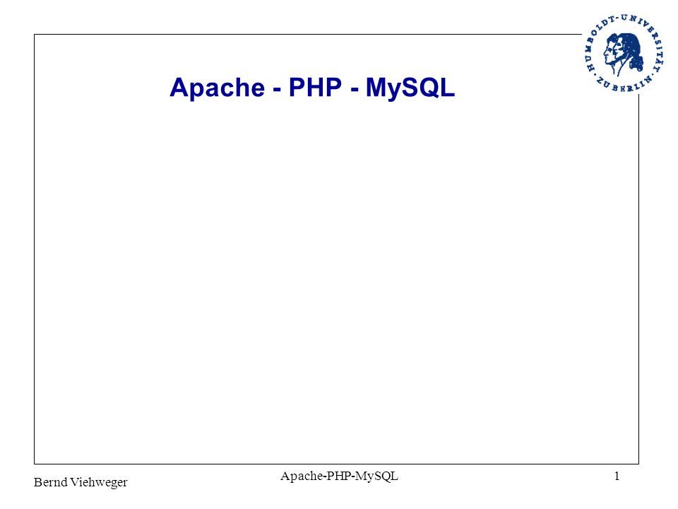 Bernd Viehweger Apache-PHP-MySQL1
