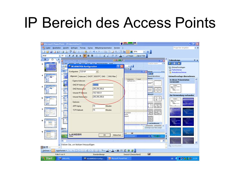 IP Bereich des Access Points