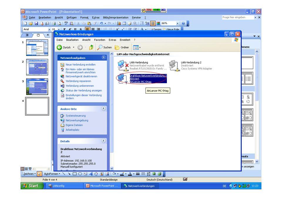 Sobald mehrere Access Points verwendet werden sollte Roaming aktiviert werden