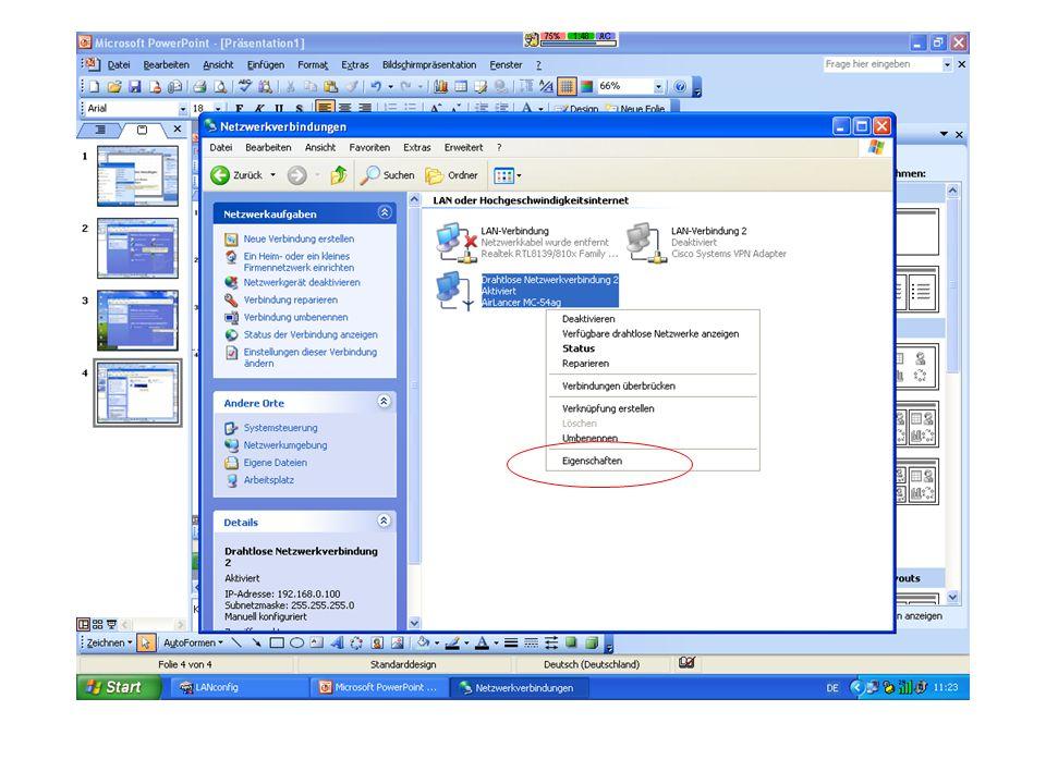 Betrieb des Access Points als Basisstation