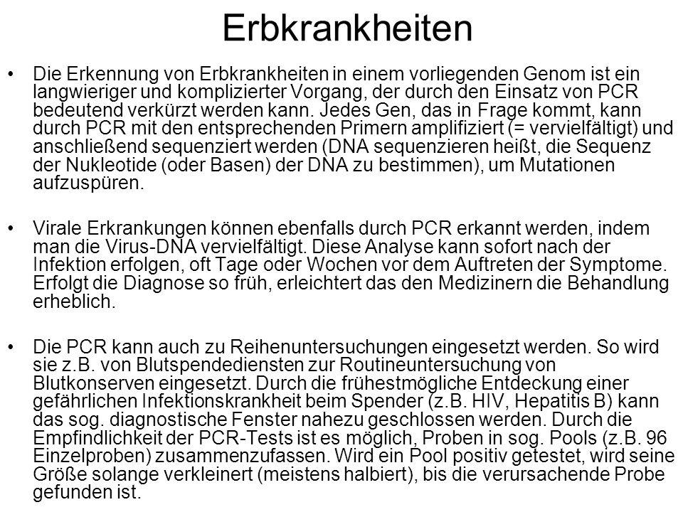 Vaterschaftstest DNA-Analyse mittels PCR-Methode (Polymerase-Ketten-Reaktion) Zu allererst werden DNA-Proben der betreffenden Personen benötigt.