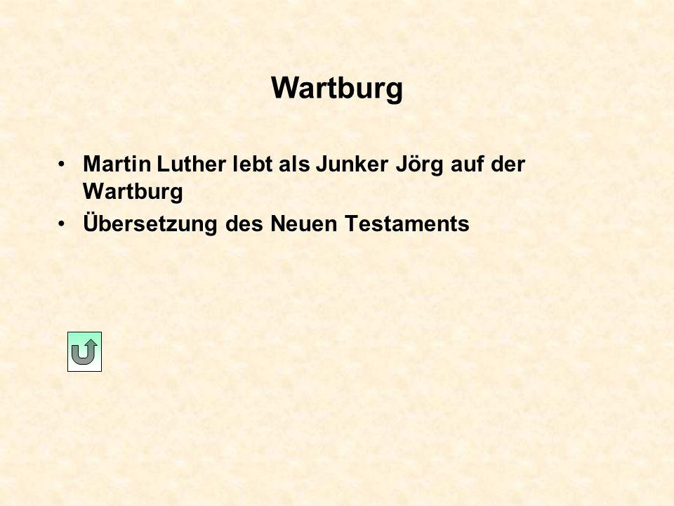 Worms Reichstag mit Kaiser Karl V. Verhöre Kein Widerruf Luthers Reichsacht