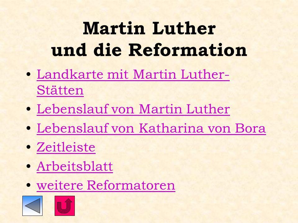 Martin Luther und die Reformation Ein fächerübergreifendes Unterrichtsprojekt in der Klassenstufe 8 an der Karl Keßler-Realschule Wasseralfingen von S