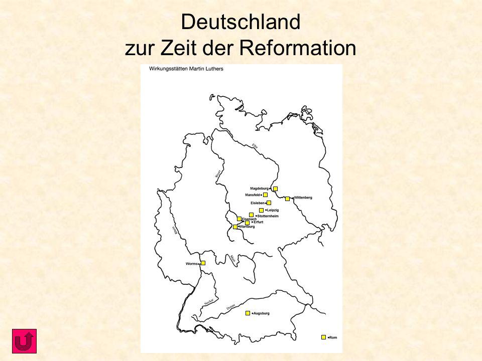 Martin Luther und die Reformation Landkarte mit Martin Luther- StättenLandkarte mit Martin Luther- Stätten Lebenslauf von Martin Luther Lebenslauf von