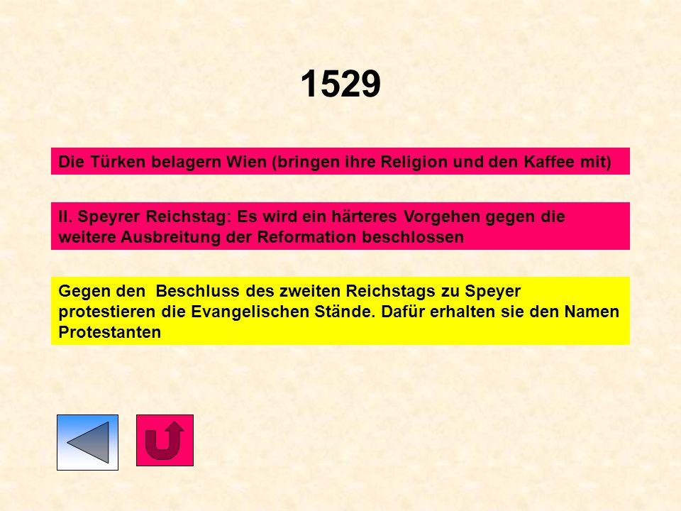 1525 1524/1525 Bauernkriege: Die Missstimmung bei den Bauern hat nicht nur wirtschaftliche Ursachen. Sie wollen die 12 Artikel einlösen. Dadurch kommt