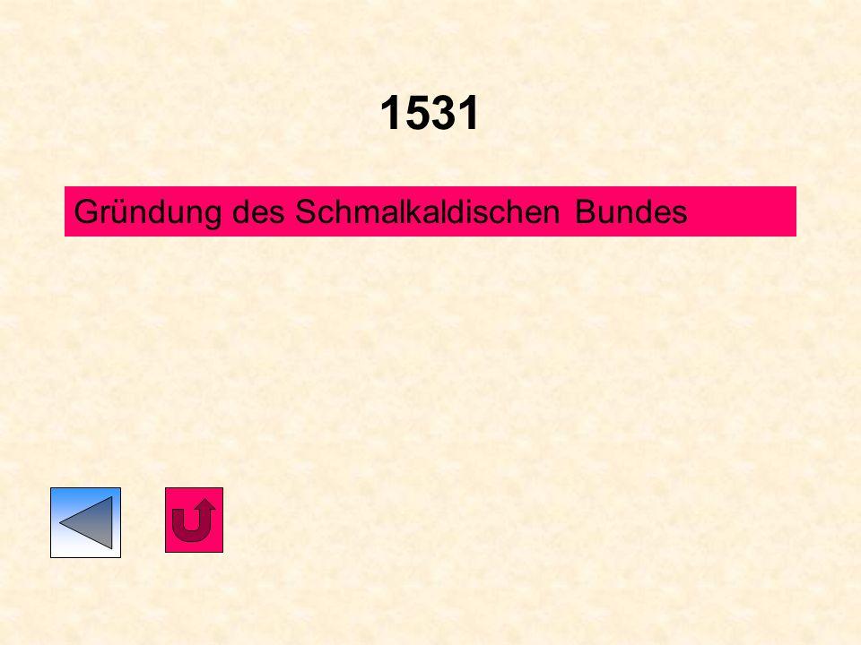 1530 Auf dem Augsburger Reichstag legen die Stände, auf Wunsch des Kaisers, eine Rechtfertigungsschrift vor, das Augsburger Bekenntnis (Confessio Augu