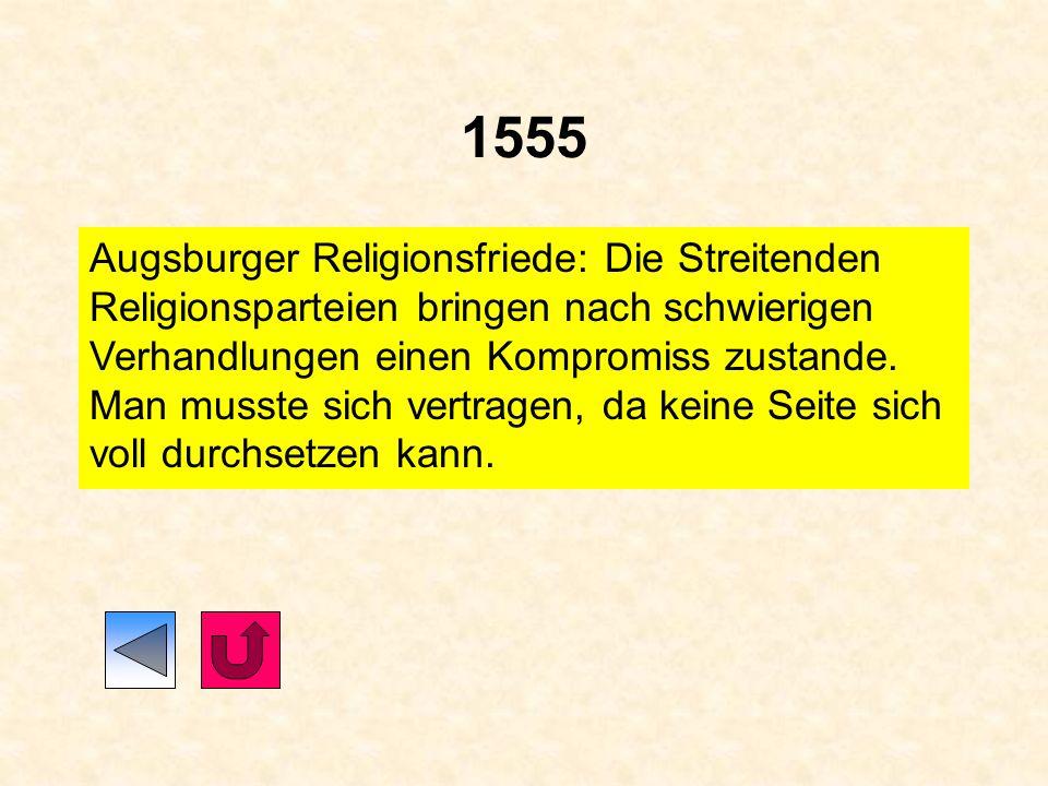 1546 Martin Luther stirbt am 18. Februar 1546 1546/1547 Schmalkaldischer Krieg