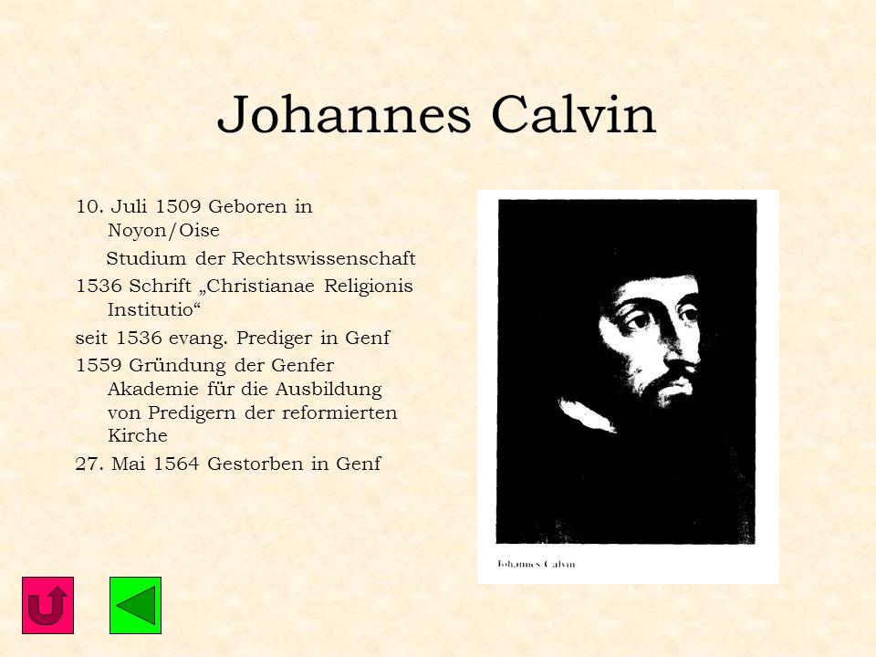 Weitere Reformatoren Johannes Calvin Ulrich Zwingli Thomas Müntzer Johannes Brenz Philipp Melanchthon