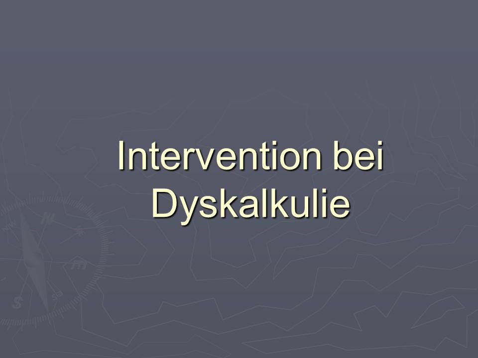 Intervention bei Dyskalkulie