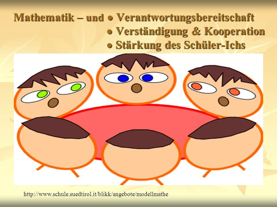 Mathematik – und Verantwortungsbereitschaft Verständigung & Kooperation Stärkung des Schüler-Ichs Mathematik – und Verantwortungsbereitschaft Verständ