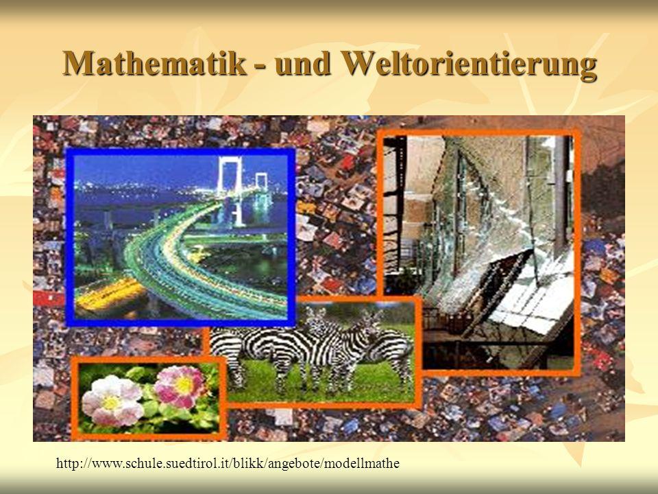 Mathematik - und Weltorientierung http://www.schule.suedtirol.it/blikk/angebote/modellmathe