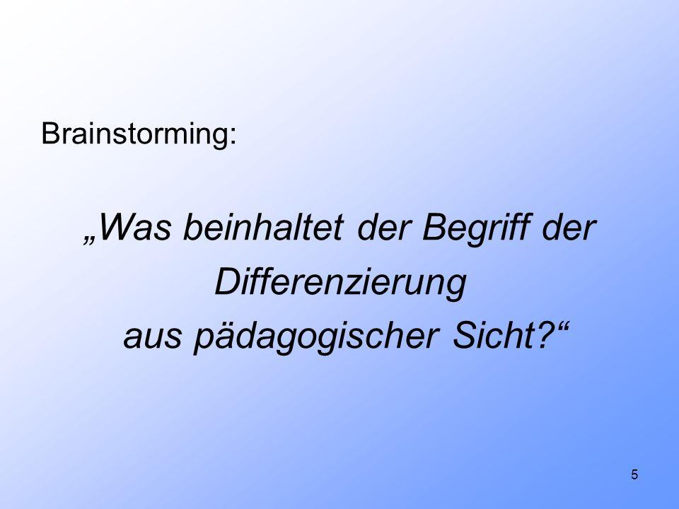 46 5.Bibliographie Bönsch, Manfred: Differenzierung in Schule und Unterricht.