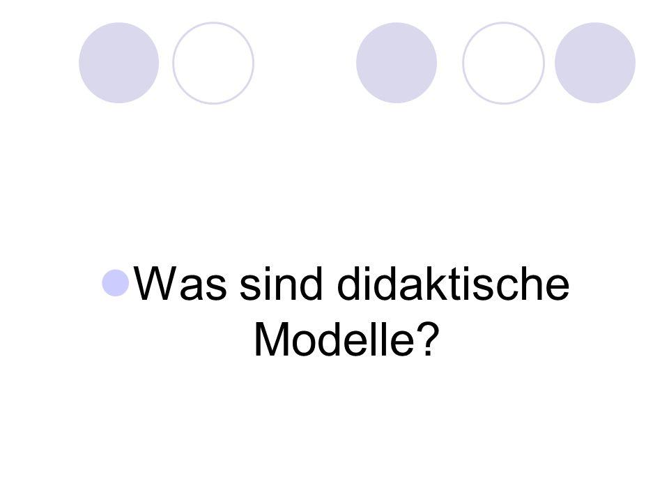 Was sind didaktische Modelle?