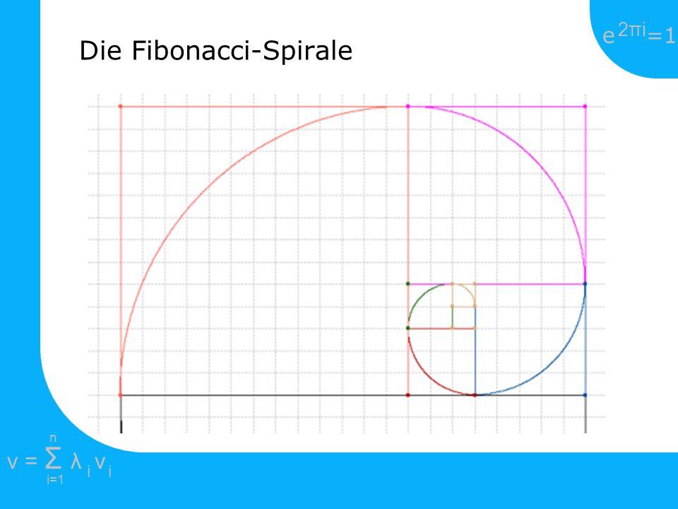 e =1 2πi2πi i=1 v = Σ λ v ii n Die Fibonacci-Spirale