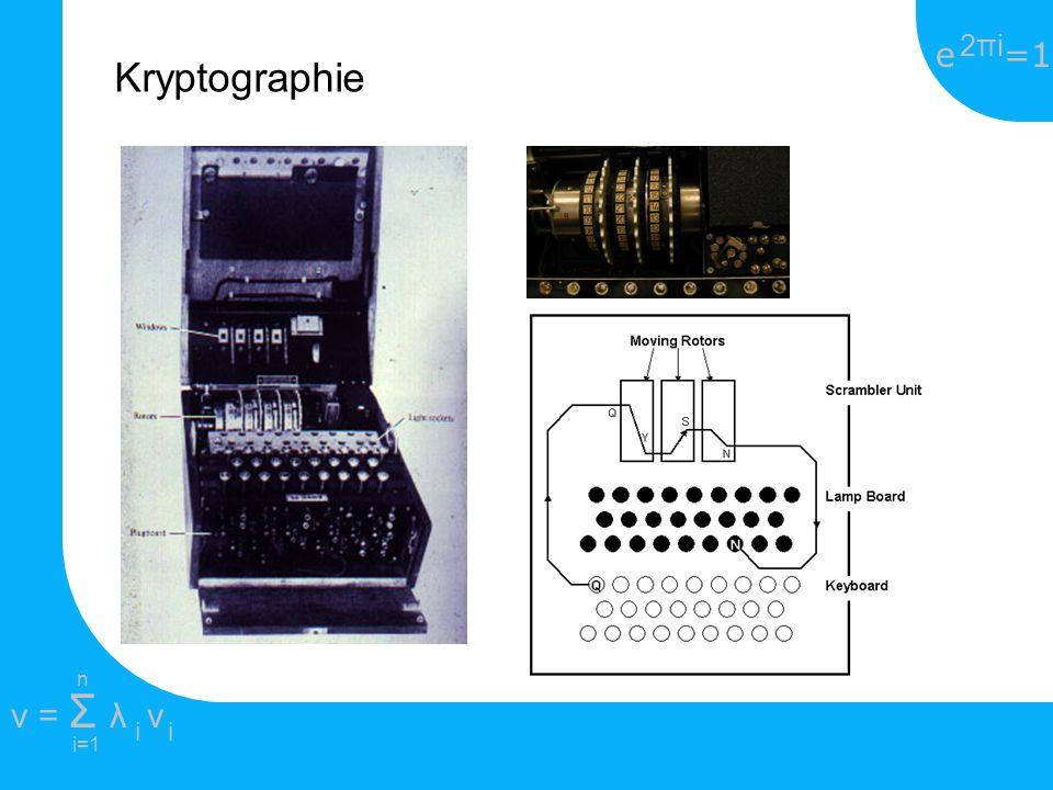 e =1 2πi2πi i=1 v = Σ λ v ii n Kryptographie