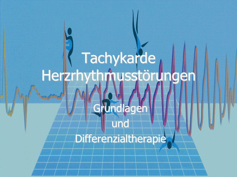 Mechanismen einer Tachykardie Gesteigerte Automatie Gesteigerte Automatie Getriggerte Aktivität Getriggerte Aktivität Reentry