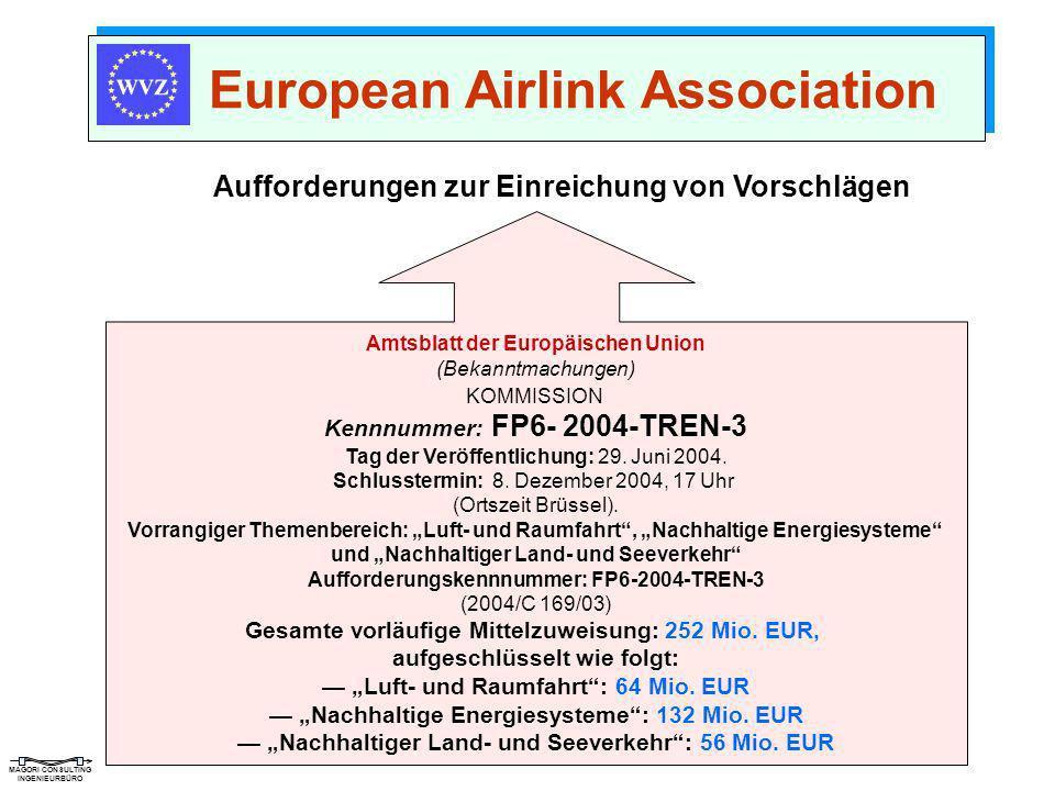 MAGORI CONSULTING INGENIEURBÜRO European Airlink Association Aufforderungen zur Einreichung von Vorschlägen Amtsblatt der Europäischen Union (Bekanntm