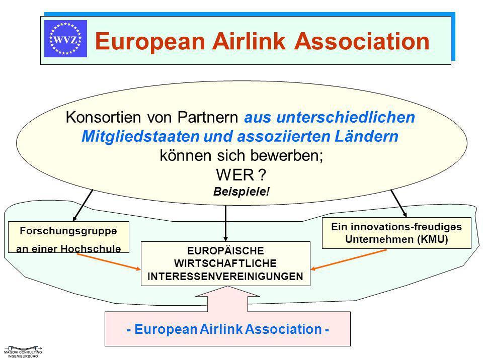 MAGORI CONSULTING INGENIEURBÜRO Konsortien von Partnern aus unterschiedlichen Mitgliedstaaten und assoziierten Ländern können sich bewerben; WER ? Bei