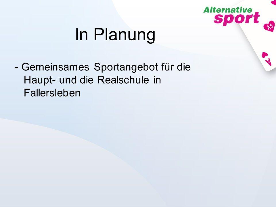 In Planung - Gemeinsames Sportangebot für die Haupt- und die Realschule in Fallersleben