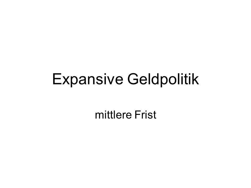 Expansive Geldpolitik mittlere Frist