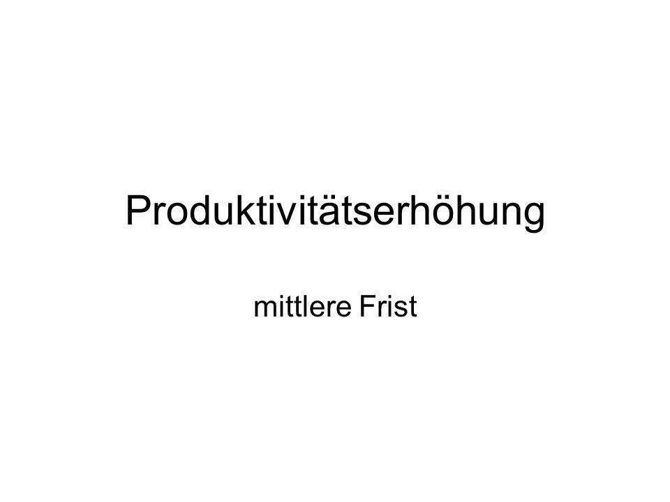 Produktivitätserhöhung mittlere Frist