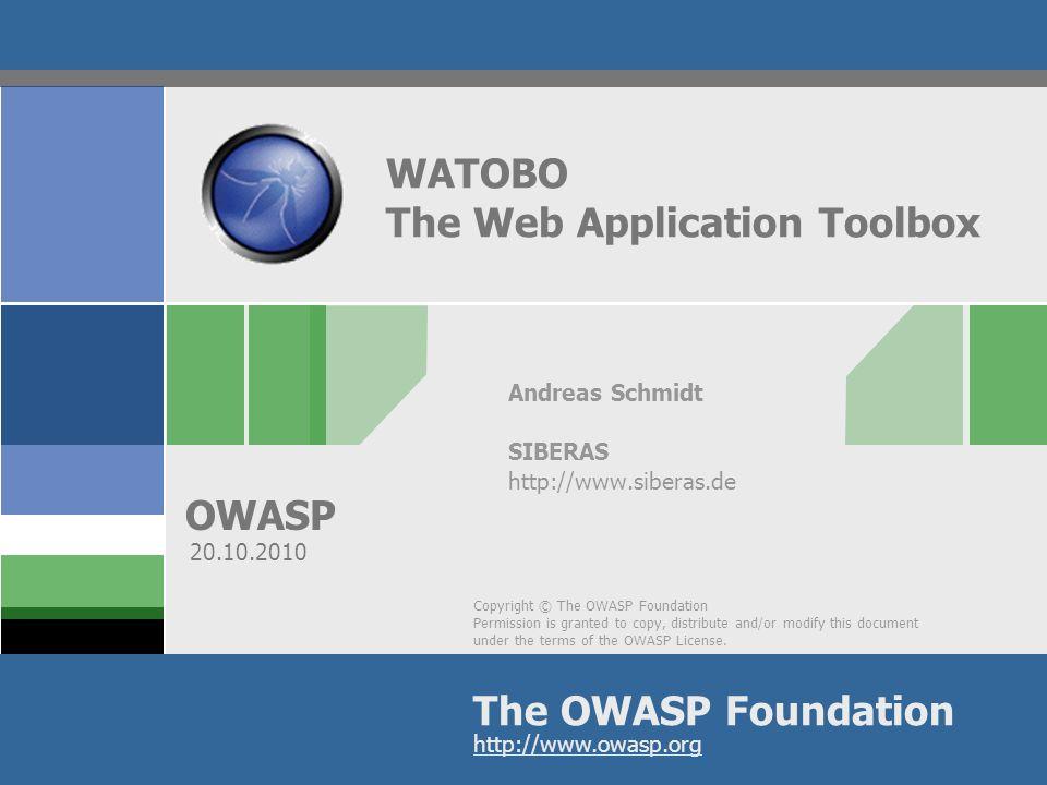 OWASP Bio Andreas Schmidt Seit 1998 im Security-Bereich tätig Seit 2001 spezialisiert auf Audits/Penetrationstests Mitgründer von siberas (2009) http://www.siberas.de