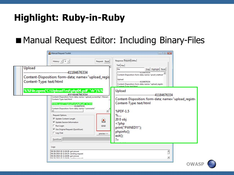 OWASP Highlight: Ruby-in-Ruby Manual Request Editor: Including Binary-Files