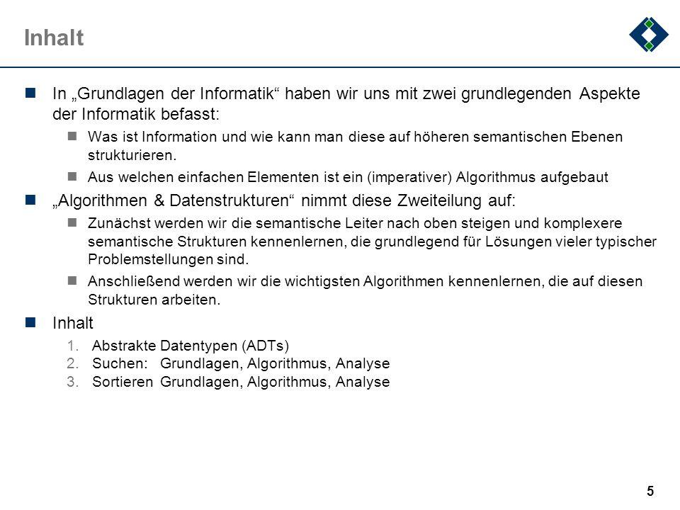 2.3.1Selection Sort: Diskussion 1 Eigenschaften: Nicht stabil (gleiche Keys können umgeordnet werden) Nicht adaptiv, d.h.