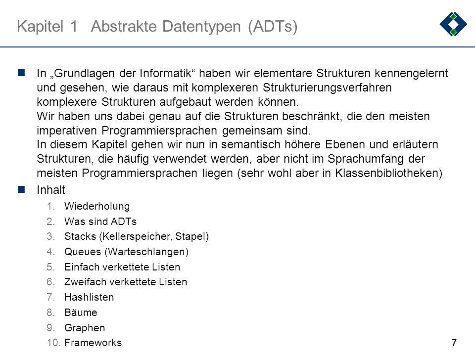 2.3.1Selection Sort: Diskussion 2 Eigenschaften: stabil Nicht adaptiv, d.h.