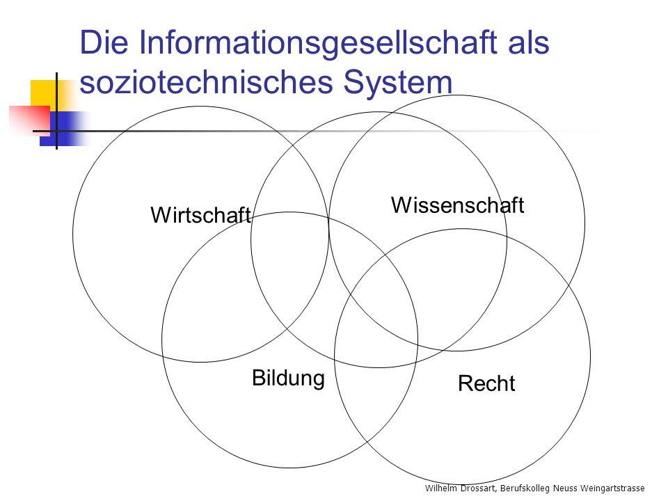 Wilhelm Drossart, Berufskolleg Neuss Weingartstrasse Die Informationsgesellschaft als soziotechnisches System Wirtschaft Bildung Recht Wissenschaft