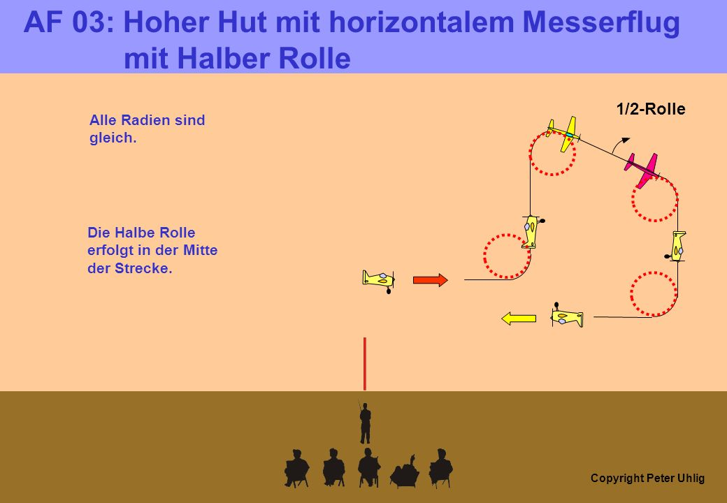 Copyright Peter Uhlig AF 04: Horizontale Acht mit ¼ Rolle, Ganze Rolle und 3/4 Rolle (alle) integriert.