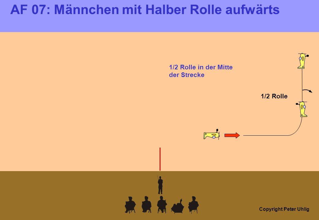 Copyright Peter Uhlig AF 07: Männchen mit Halber Rolle aufwärts Überschlag nach hinten: 0 Punkte!
