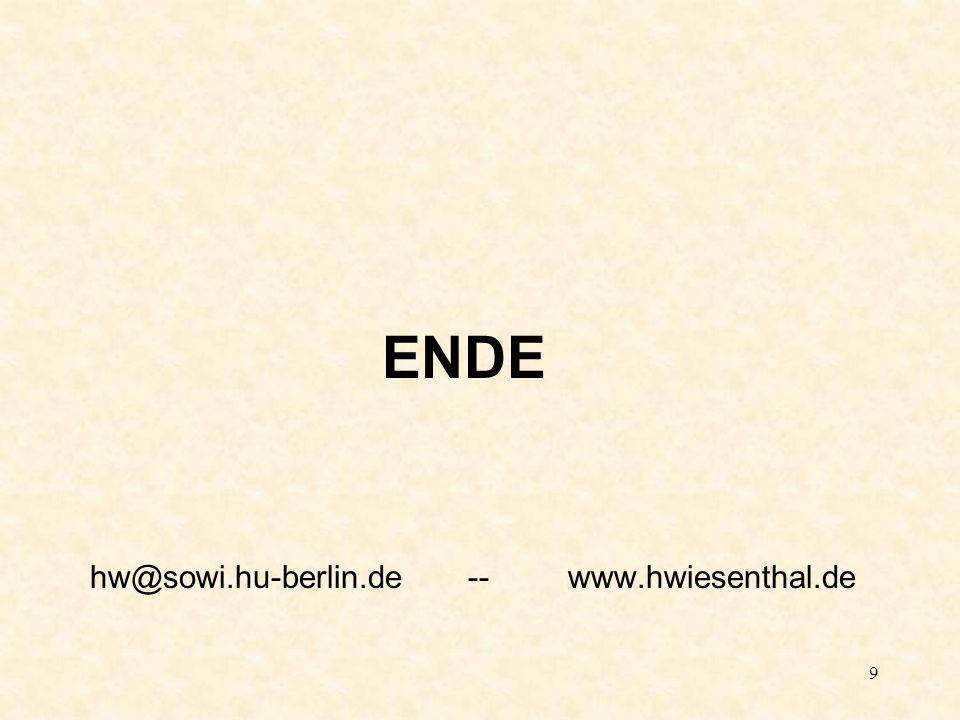 9 ENDE hw@sowi.hu-berlin.de -- www.hwiesenthal.de