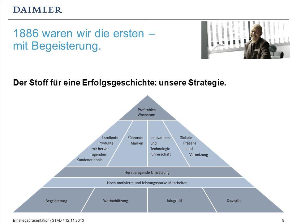 Einstiegspräsentation / GTAD / 12.11.201319 Steigen Sie ein!